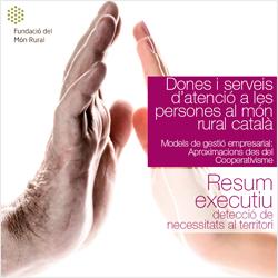 Portada de l'informe: 'Dones i serveis d'atenció a les persones al món rural català'