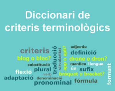 Diccionari de criteris terminològics