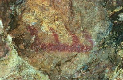 Pintures rupestres. Cova del Cogulló. Figura 2. Foto: D.G.Patrimoni Cultural Generalitat.