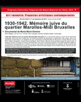 Projecció del documental 1930-1942. Mémoire juive du quartier Marolles-Midi, Bruxelles
