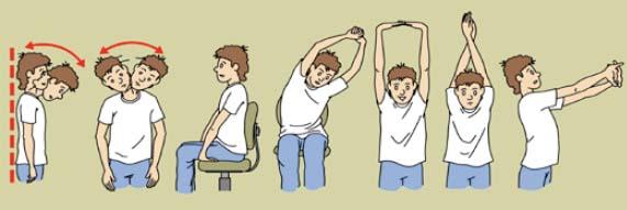 Cal fer estiraments musculars (coll, esquena, braç i avantbraç)