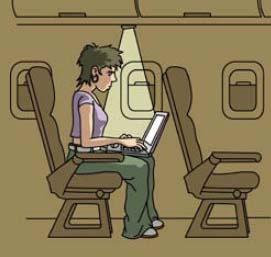 Entorn de treball inadequat. L'usuari de l'ordinador adopta una postura forçada.